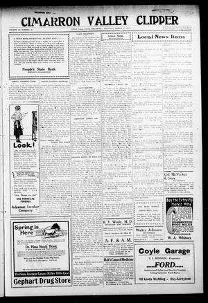 Primary view of Cimarron Valley Clipper (Coyle, Okla.), Vol. 20, No. 33, Ed. 1 Thursday, March 17, 1921