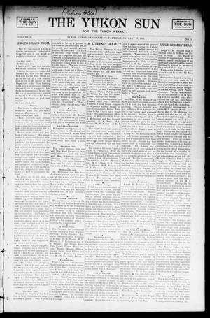 Primary view of object titled 'The Yukon Sun And The Yukon Weekly. (Yukon, Okla. Terr.), Vol. 10, No. 3, Ed. 1 Friday, January 17, 1902'.