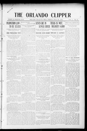 Primary view of object titled 'The Orlando Clipper (Orlando, Okla.), Vol. 5, No. 37, Ed. 1 Friday, July 28, 1911'.