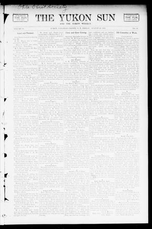 Primary view of object titled 'The Yukon Sun And The Yukon Weekly. (Yukon, Okla. Terr.), Vol. 10, No. 35, Ed. 1 Friday, August 29, 1902'.