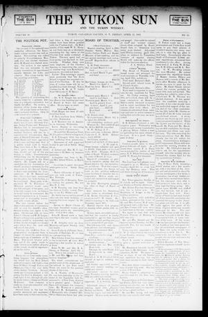 Primary view of object titled 'The Yukon Sun And The Yukon Weekly. (Yukon, Okla. Terr.), Vol. 10, No. 15, Ed. 1 Friday, April 11, 1902'.
