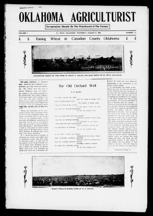 Primary view of object titled 'Oklahoma Agriculturist (El Reno, Okla.), Vol. 1, No. 11, Ed. 1 Thursday, August 9, 1906'.