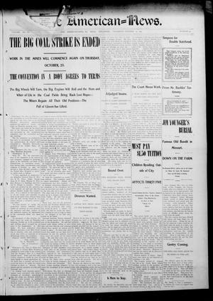 Primary view of object titled 'The American--News. (El Reno, Okla.), Vol. 6, No. 30, Ed. 1 Thursday, October 23, 1902'.