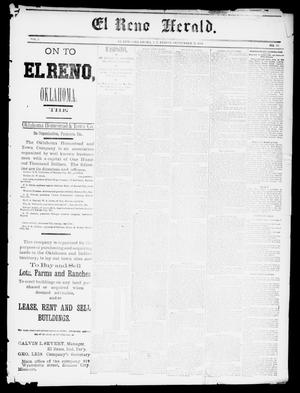 Primary view of object titled 'El Reno Herald. (El Reno, Okla., Indian Terr.), Vol. 3, No. 13, Ed. 1 Friday, September 11, 1891'.
