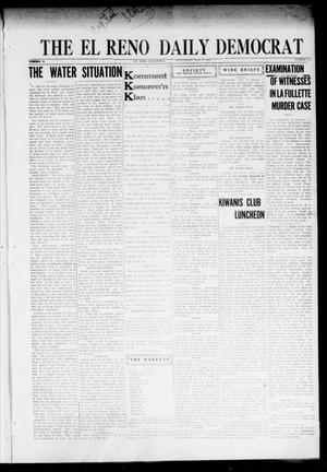 Primary view of object titled 'The El Reno Daily Democrat (El Reno, Okla.), Vol. 31, No. 175, Ed. 1 Wednesday, November 9, 1921'.