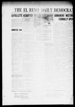 Primary view of object titled 'The El Reno Daily Democrat (El Reno, Okla.), Vol. 31, No. 177, Ed. 1 Saturday, November 12, 1921'.