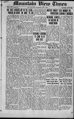 Primary view of Mountain View Times (Mountain View, Okla.), Vol. 25, No. 40, Ed. 1 Friday, February 8, 1924
