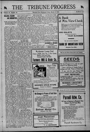 Primary view of The Tribune-Progress (Mountain View, Okla.), Vol. 20, No. 46, Ed. 1 Friday, March 21, 1919