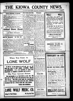 Primary view of object titled 'The Kiowa County News. (Lone Wolf, Okla.), Vol. 12, No. 43, Ed. 1 Thursday, September 25, 1913'.