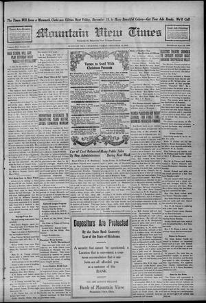 Primary view of Mountain View Times (Mountain View, Okla.), Vol. 21, No. 32, Ed. 1 Friday, December 12, 1919