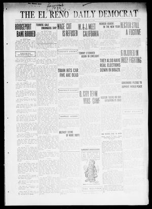 Primary view of object titled 'The El Reno Daily Democrat (El Reno, Okla.), Vol. 31, No. 117, Ed. 1 Monday, January 2, 1922'.