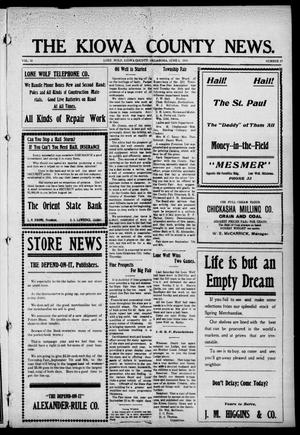 Primary view of The Kiowa County News. (Lone Wolf, Okla.), Vol. 15, No. 27, Ed. 1 Thursday, June 1, 1916