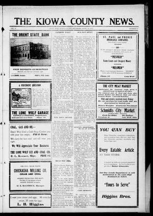 Primary view of The Kiowa County News. (Lone Wolf, Okla.), Vol. 16, No. 18, Ed. 1 Thursday, April 12, 1917