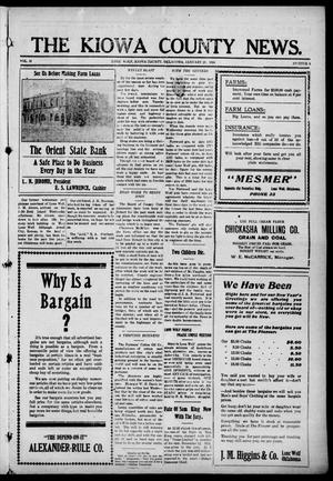 Primary view of object titled 'The Kiowa County News. (Lone Wolf, Okla.), Vol. 15, No. 8, Ed. 1 Thursday, January 20, 1916'.