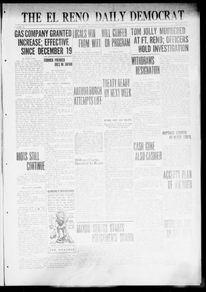 Primary view of object titled 'The El Reno Daily Democrat (El Reno, Okla.), Vol. 31, No. 121, Ed. 1 Friday, January 6, 1922'.