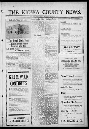 Primary view of object titled 'The Kiowa County News. (Lone Wolf, Okla.), Vol. 15, No. 9, Ed. 1 Thursday, January 27, 1916'.