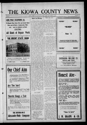 Primary view of object titled 'The Kiowa County News. (Lone Wolf, Okla.), Vol. 15, No. 43, Ed. 1 Thursday, September 21, 1916'.