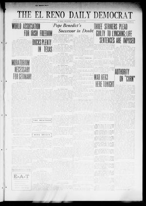Primary view of object titled 'The El Reno Daily Democrat (El Reno, Okla.), Vol. 31, No. 135, Ed. 1 Tuesday, January 24, 1922'.
