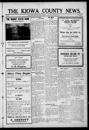 Primary view of object titled 'The Kiowa County News. (Lone Wolf, Okla.), Vol. 17, No. 15, Ed. 1 Thursday, March 28, 1918'.