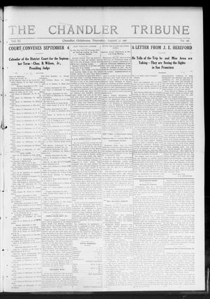 Primary view of object titled 'The Chandler Tribune (Chandler, Okla.), Vol. 11, No. 26, Ed. 1 Thursday, August 31, 1911'.