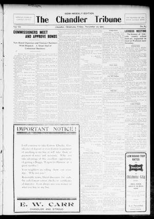 Primary view of object titled 'The Chandler Tribune (Chandler, Okla.), Vol. 7, No. 83, Ed. 1 Friday, November 22, 1907'.