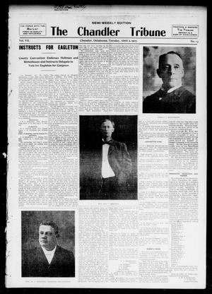 Primary view of object titled 'The Chandler Tribune (Chandler, Okla.), Vol. 7, No. 13, Ed. 1 Tuesday, April 2, 1907'.