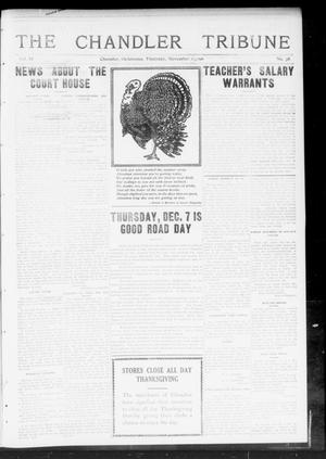 Primary view of object titled 'The Chandler Tribune (Chandler, Okla.), Vol. 11, No. 38, Ed. 1 Thursday, November 23, 1911'.