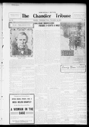 Primary view of object titled 'The Chandler Tribune (Chandler, Okla.), Vol. 7, No. 85, Ed. 1 Friday, November 29, 1907'.