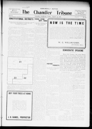 Primary view of object titled 'The Chandler Tribune (Chandler, Okla.), Vol. 6, No. 51, Ed. 1 Friday, August 24, 1906'.