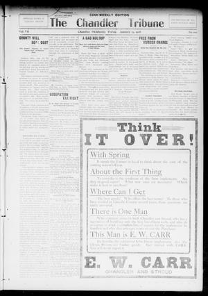 Primary view of object titled 'The Chandler Tribune (Chandler, Okla.), Vol. 7, No. 100, Ed. 2 Tuesday, January 21, 1908'.