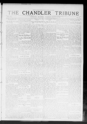 Primary view of object titled 'The Chandler Tribune (Chandler, Okla.), Vol. 13, No. 25, Ed. 1 Thursday, August 21, 1913'.