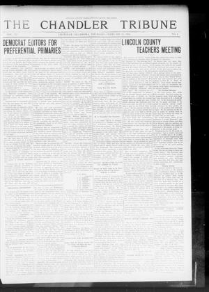 Primary view of object titled 'The Chandler Tribune (Chandler, Okla.), Vol. 14, No. 1, Ed. 1 Thursday, February 26, 1914'.