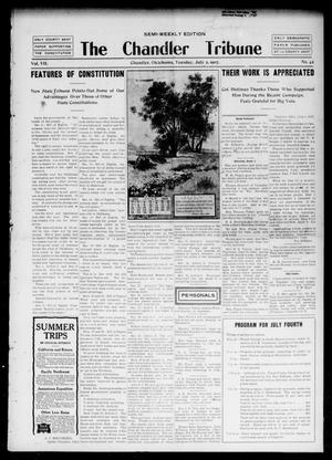 Primary view of object titled 'The Chandler Tribune (Chandler, Okla.), Vol. 7, No. 42, Ed. 1 Tuesday, July 2, 1907'.