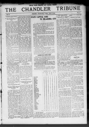 Primary view of object titled 'The Chandler Tribune (Chandler, Okla.), Vol. 10, No. 11, Ed. 1 Friday, June 17, 1910'.