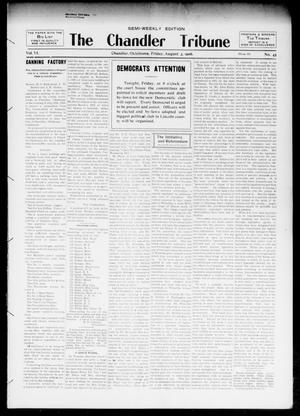 Primary view of object titled 'The Chandler Tribune (Chandler, Okla.), Vol. 6, No. 45, Ed. 1 Friday, August 3, 1906'.