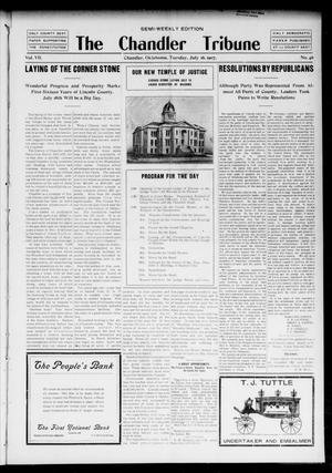 Primary view of object titled 'The Chandler Tribune (Chandler, Okla.), Vol. 7, No. 46, Ed. 1 Tuesday, July 16, 1907'.