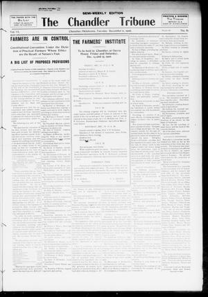 Primary view of object titled 'The Chandler Tribune (Chandler, Okla.), Vol. 6, No. 82, Ed. 1 Tuesday, December 11, 1906'.