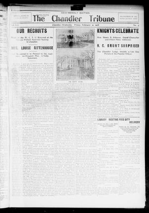 Primary view of object titled 'The Chandler Tribune (Chandler, Okla.), Vol. 8, No. 3, Ed. 1 Friday, February 21, 1908'.