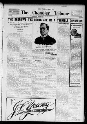 Primary view of object titled 'The Chandler Tribune (Chandler, Okla.), Vol. 7, No. 57, Ed. 1 Friday, August 23, 1907'.