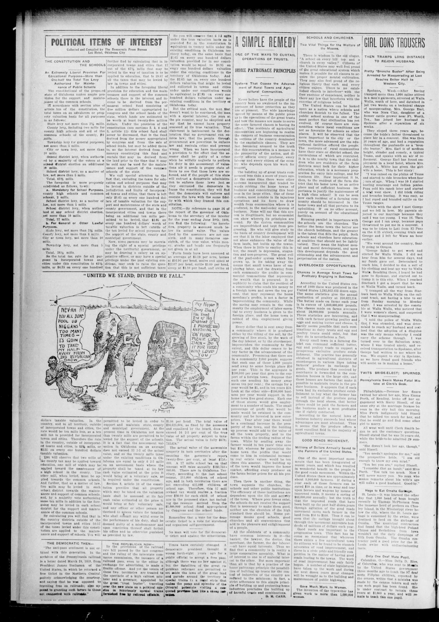 The Chandler Tribune (Chandler, Okla.), Vol. 7, No. 57, Ed. 1 Friday, August 23, 1907                                                                                                      [Sequence #]: 2 of 4