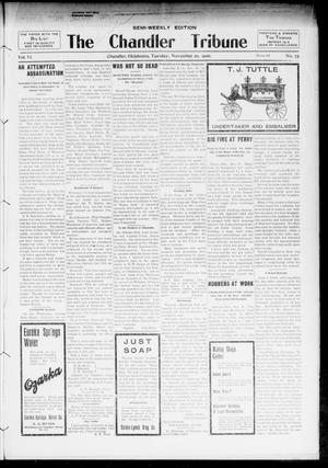 Primary view of object titled 'The Chandler Tribune (Chandler, Okla.), Vol. 6, No. 76, Ed. 1 Tuesday, November 20, 1906'.