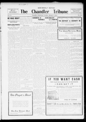 Primary view of object titled 'The Chandler Tribune (Chandler, Okla.), Vol. 6, No. 89, Ed. 1 Tuesday, January 8, 1907'.