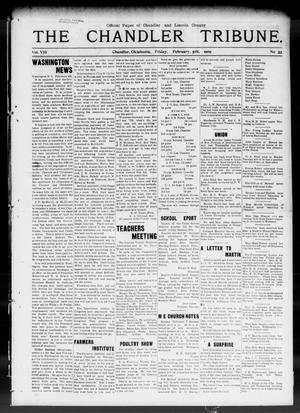 Primary view of object titled 'The Chandler Tribune. (Chandler, Okla.), Vol. 8, No. 55, Ed. 1 Friday, February 5, 1909'.