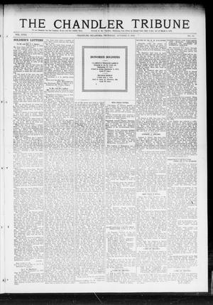 Primary view of object titled 'The Chandler Tribune (Chandler, Okla.), Vol. 18, No. 35, Ed. 1 Thursday, October 17, 1918'.