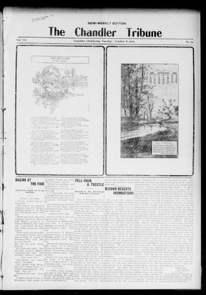 Primary view of object titled 'The Chandler Tribune (Chandler, Okla.), Vol. 7, No. 70, Ed. 1 Tuesday, October 8, 1907'.