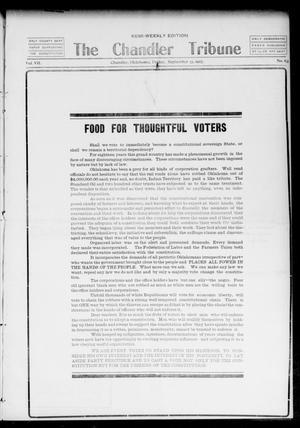Primary view of The Chandler Tribune (Chandler, Okla.), Vol. 7, No. 63, Ed. 1 Friday, September 13, 1907
