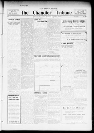 Primary view of object titled 'The Chandler Tribune (Chandler, Okla.), Vol. 6, No. 50, Ed. 1 Tuesday, August 21, 1906'.