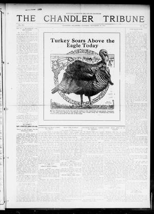 Primary view of object titled 'The Chandler Tribune (Chandler, Okla.), Vol. 15, No. 40, Ed. 1 Thursday, November 25, 1915'.