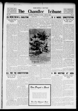 Primary view of object titled 'The Chandler Tribune (Chandler, Okla.), Vol. 7, No. 21, Ed. 1 Tuesday, April 30, 1907'.