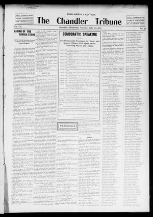 Primary view of object titled 'The Chandler Tribune (Chandler, Okla.), Vol. 7, No. 48, Ed. 1 Tuesday, July 23, 1907'.